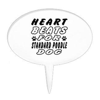 Golpes de corazón para el caniche estándar