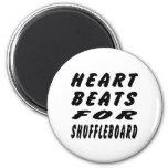 Golpes de corazón para el Shuffleboard Imán