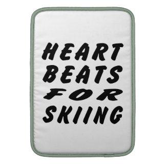 Golpes de corazón para esquiar fundas MacBook
