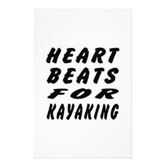 Golpes de corazón para Kayaking Papelería Personalizada