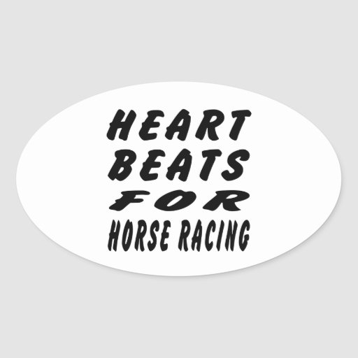 Golpes de corazón para la carrera de caballos calcomania de oval personalizadas