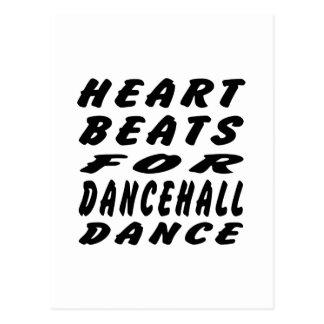 Golpes de corazón para la danza de Dancehall Tarjetas Postales