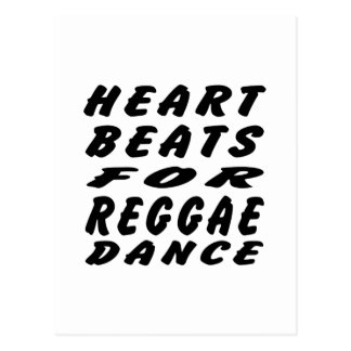 Golpes de corazón para la danza del reggae tarjeta postal