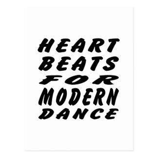 Golpes de corazón para la danza moderna tarjeta postal