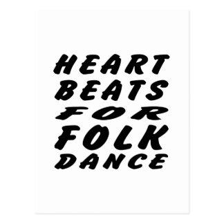 Golpes de corazón para la danza popular postal