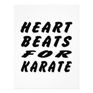 Golpes de corazón para los artes marciales del kar plantillas de membrete