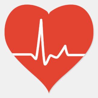 Golpes de corazón pegatina en forma de corazón