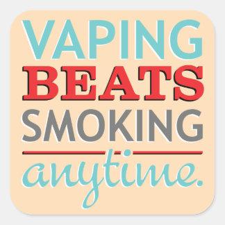 Golpes de Vaping que fuman en cualquier momento Pegatina Cuadrada