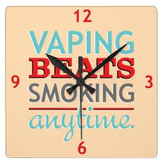 Golpes de Vaping que fuman en cualquier momento Relojes De Pared