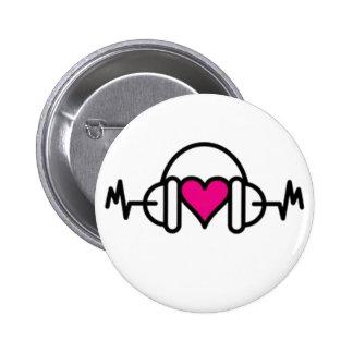 Golpes del botón del amor pin
