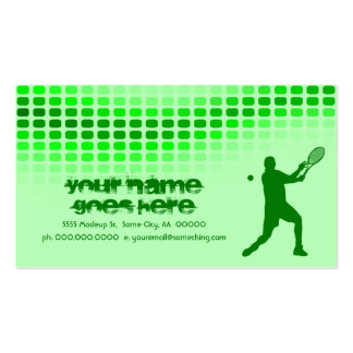 golpes del tenis tarjetas de visita