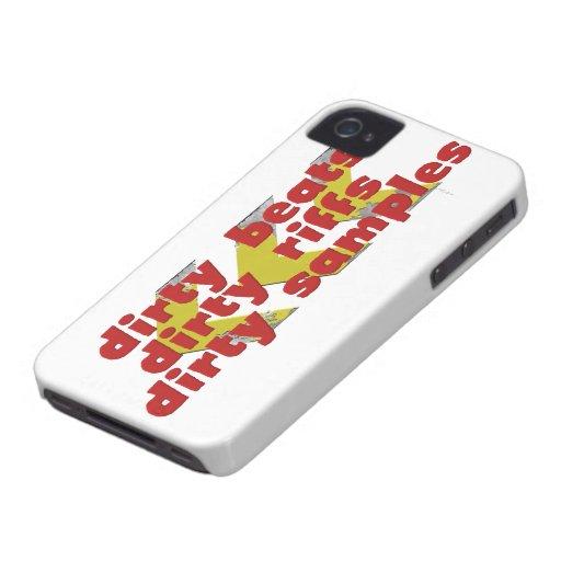 Golpes sucios, riffs sucios, muestras sucias funda para iPhone 4 de Case-Mate