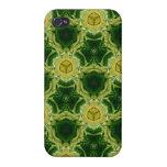 Golpeteo abstracto amarillo iPhone 4 cárcasas
