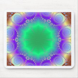 Golpeteo abstracto del fractal del espiral del Hip Tapete De Ratones