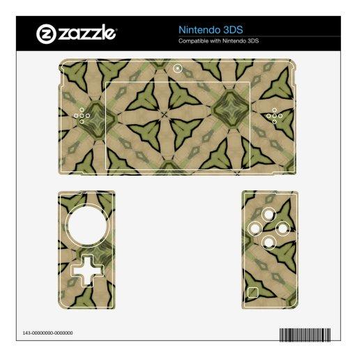 Golpeteo abstracto verde skin para el nintendo 3DS