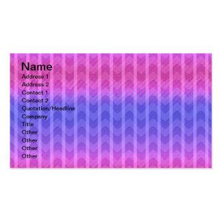 Golpeteo azul rosado femenino elegante de moda de  tarjetas de visita