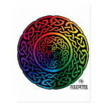 Golpeteo de Fairie - Celtic Knotwork del arco iris Postal