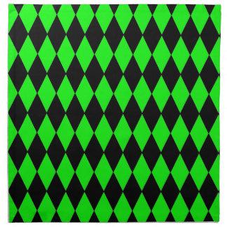 Golpeteo del Harlequin de la verde lima de neón y Servilletas De Papel