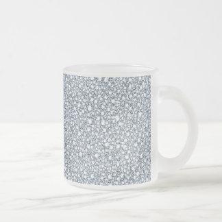 Golpeteo encrustado del brillo de la mirada de los taza de café esmerilada