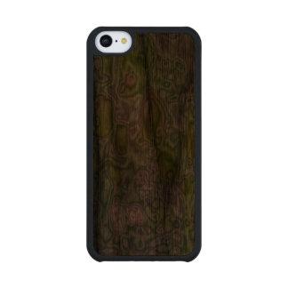 Golpeteo extraño de un manzano funda de iPhone 5C slim nogal