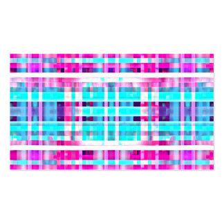 Golpeteo multicolor de las rayas del trullo rosado tarjetas de visita