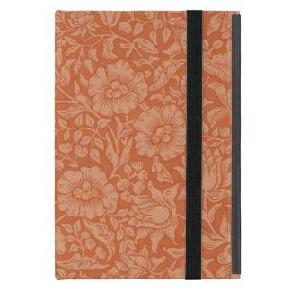 Golpeteo rojo de William Morris del papel pintado iPad Mini Protector