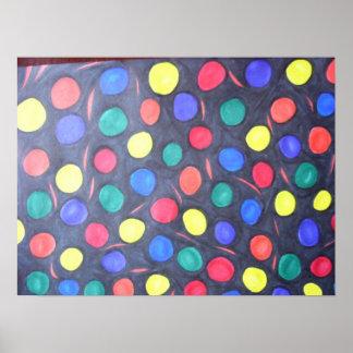 Goma-bolas en espacio posters