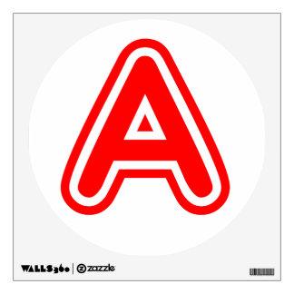 Goma de los PEGATINAS del AAA ALPHAA y etiqueta de