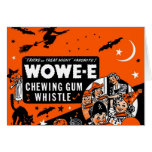 Goma Halloween de la cera de Wowee del vintage del Tarjeta De Felicitación