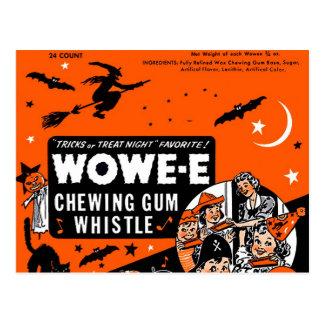Goma Halloween de la cera de Wowee del vintage del Tarjeta Postal