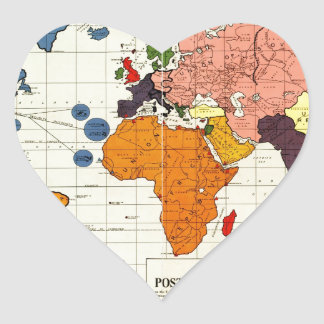 "Gomberg's infamous ""New World Order"" map (1942) Heart Sticker"