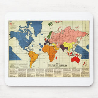 "Gomberg's infamous ""New World Order"" map (1942) Mouse Pad"
