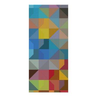 Gometric Art Multicolor Triangles and Diamonds Rack Card