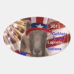GoMetz Farms Laporte, Indiana  2013 PATRIOTIC GOAT Oval Sticker