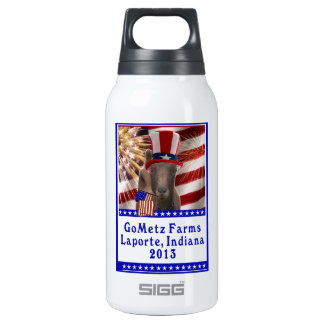 GoMetz Farms Laporte, Indiana  2013 PATRIOTIC GOAT 10 Oz Insulated SIGG Thermos Water Bottle