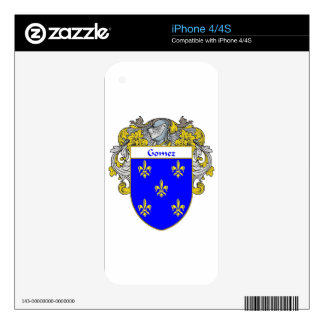 Gomez Coat of Arms/Family Crest iPhone 4 Decals
