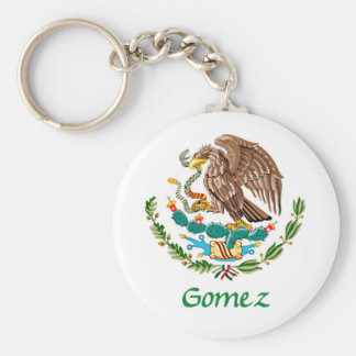 Gomez Mexican National Seal Basic Round Button Keychain