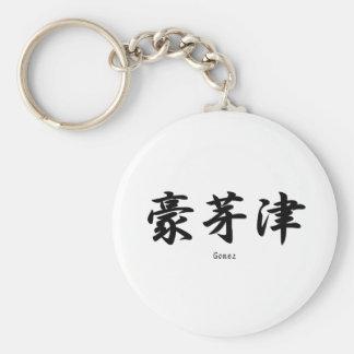 Gómez tradujo a símbolos japoneses del kanji llavero