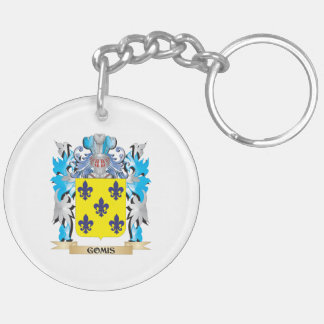 Gomis Coat of Arms - Family Crest Double-Sided Round Acrylic Keychain