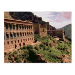 Gompa walls and windows, Tibet, China Post Card