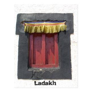 Gompa window, Leh, Ladakh, India Postcard
