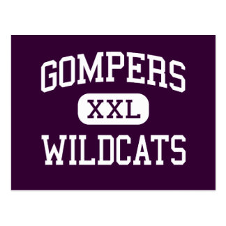 Gompers - Wildcats - High - San Diego California Postcard