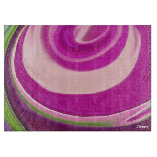 """""""Gomphrena abstract3"""" cutting board"""