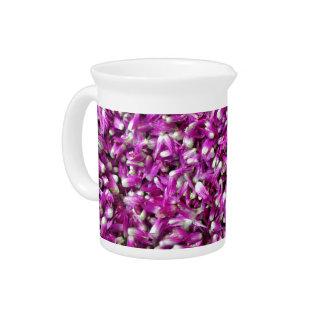 Gomphrena púrpura jarrón