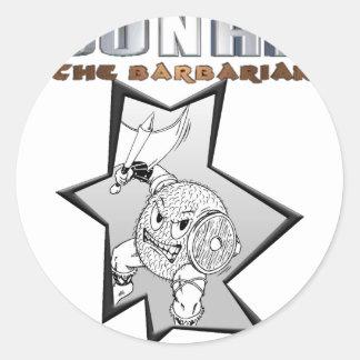 Gonad The Barbarian Classic Round Sticker