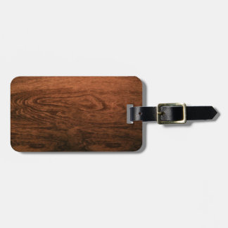 Goncalo alves Wood Grain Luggage Tag