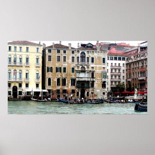 Gondeln in Venedig Póster