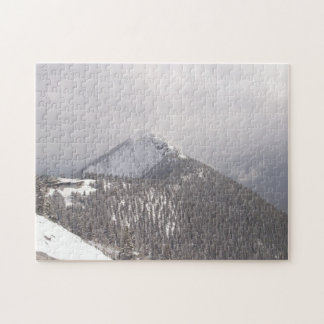 Gondola and Mountain Top Jigsaw Puzzle