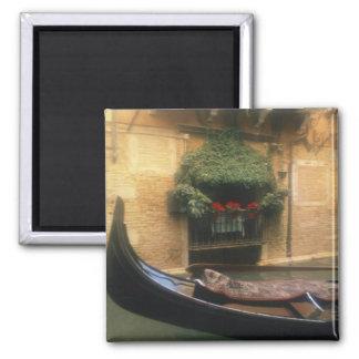 Gondola and Restaurant, Venice, Veneto, Italy 2 Inch Square Magnet