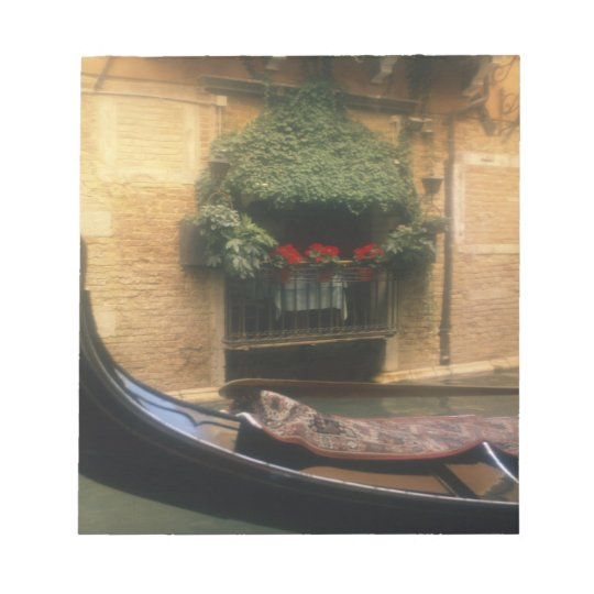 Gondola and Restaurant, Venice, Veneto, Italy Notepad